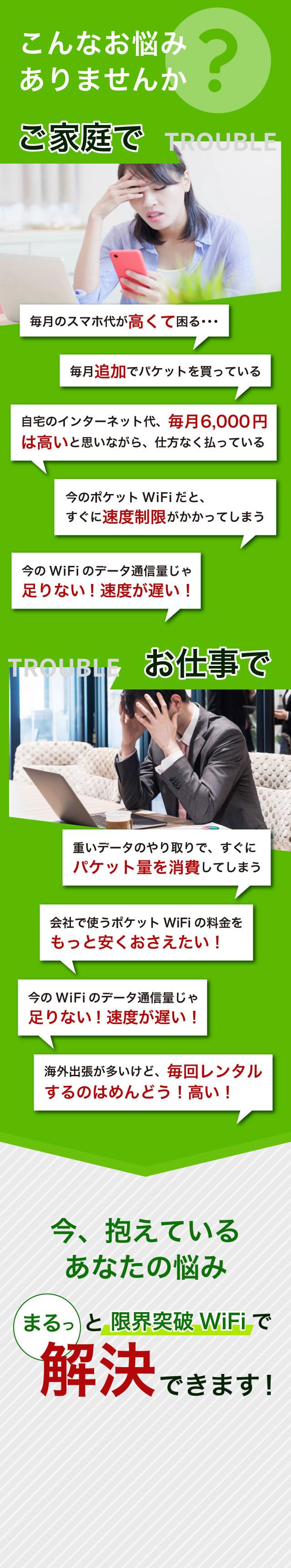 限界突破wifiは容量無制限